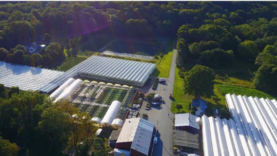 An overhead view of TerrAscend in Boonton Township, New  Jersey's first legal cannabis growing facility. August 4, 2020.