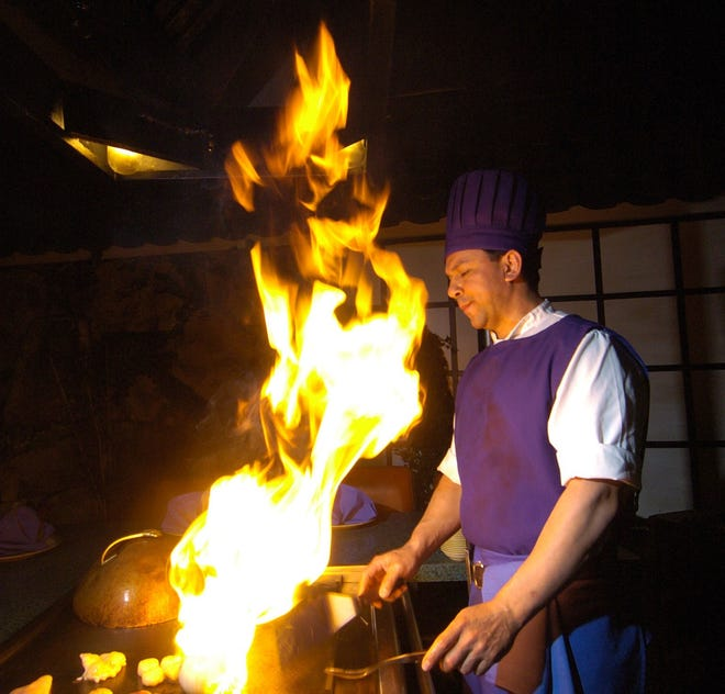 Back in the day, chef Walter Lopez flames the grill at the old Ichiban Japanese Steakhouse & Sushi Bar in Harrah's Reno.