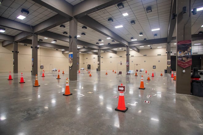 Florida State University set-up a COVID-19 testing site inside the exhibition hall located within the Tucker Civic Center on Tuesday, Aug. 4, 2020.