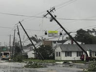 There is significant damage on Division Street in Dover, where there are unconfirmed reports of a tornado touching down.