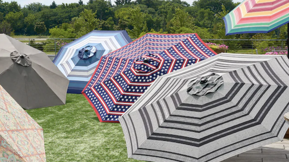 This umbrella comes in a variety of fun patterns.