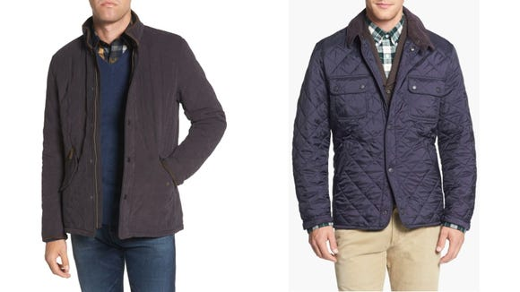 Quilted coats are very in.