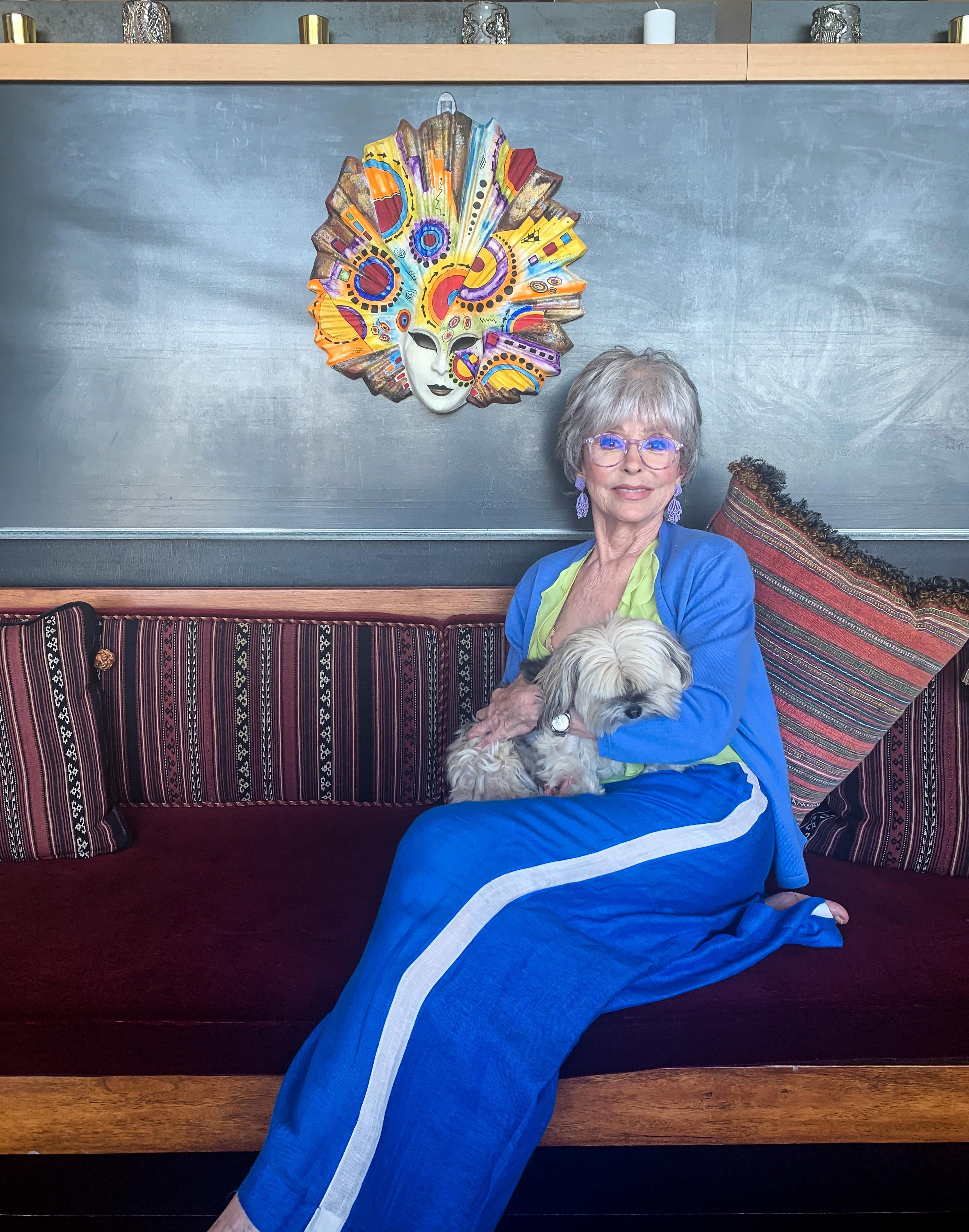 Rita Moreno poses for a portrait in her home in Berkeley, Calif., on July 27, 2020. Moreno was born in Puerto Rico and brought to New York as a child. She said being the only Spanish speaker in her kindergarten class was frightening, but she made the decision to be brave. It's a decision she's continued to make during her 70-year career.