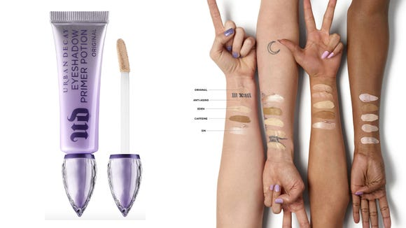 Lock your eyeshadows into place with the Urban Decay EyeShadow Primer Potion.
