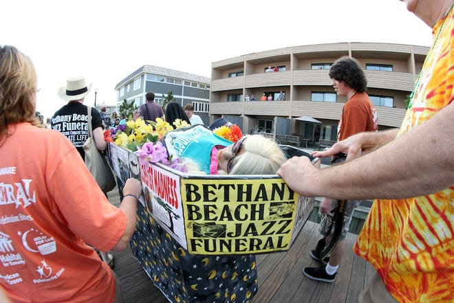 "The ""body"" of summer gets paraded down the Bethany Beach boardwalk in 2013."
