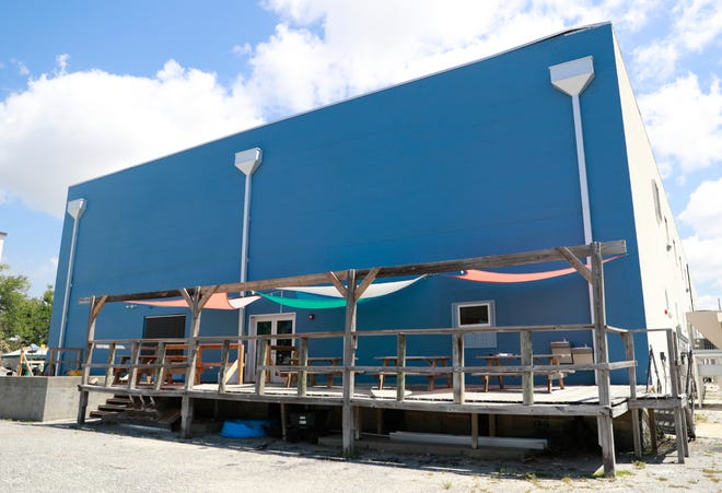 The back portion of the building on May 4, 2020 at AMIkids PCMI.