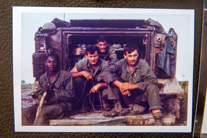 Bart Fabian, third from left, in a 1969 photo in Vietnam.