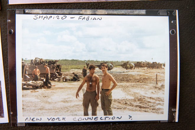 Bart 'Doc' Fabian, right, in a photo taken during his time in Vietnam.