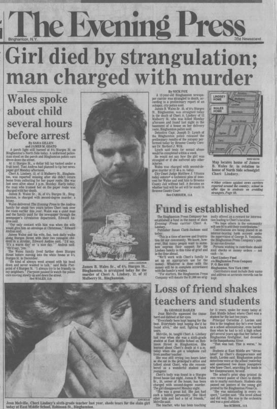 The Evening Press newspaper clipping from March 28, 1984.