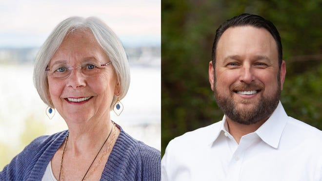 Incumbent Kitsap County Commissioner Charlotte Garrido and Republican challenger Oran Root are emerging as the top two candidates in Tuesday's primary election.