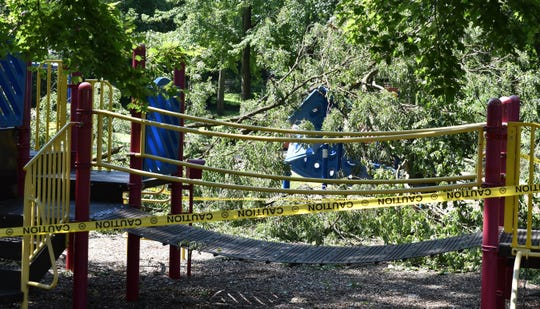 Lion's Den Park on New York Avenue in Cherry Hill is closed due to storm damage.