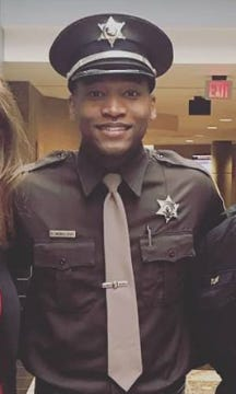 Washtenaw County Sheriff's Deputy D'Angelo McWilliams is shown in a photo posted on the sheriff's department Facebook page in May 2019.