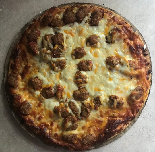 Sausage Palooza Pothole Pizza is a sausage frozen pizza from Kwik Trip.