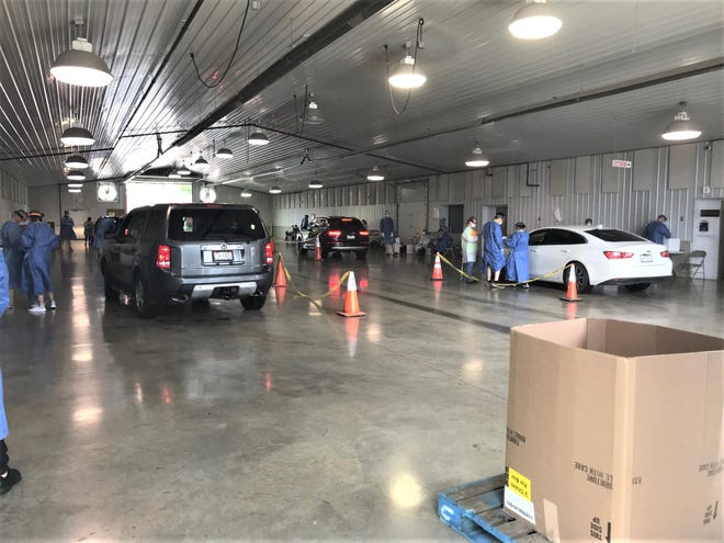 On Tuesday 635 people took advantage of free COVID-19 testing at the Fairfield County Fairgrounds offered by the Ohio National Guard, Fairfield Community Health Center and the county emergency management agency.