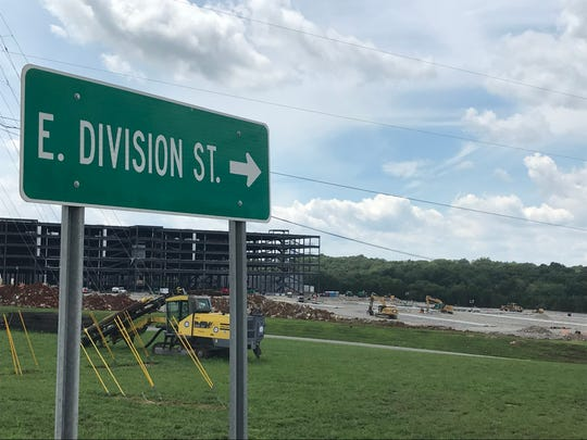 Road improvements are part of a new Amazon facility being built in Mt. Juliet.