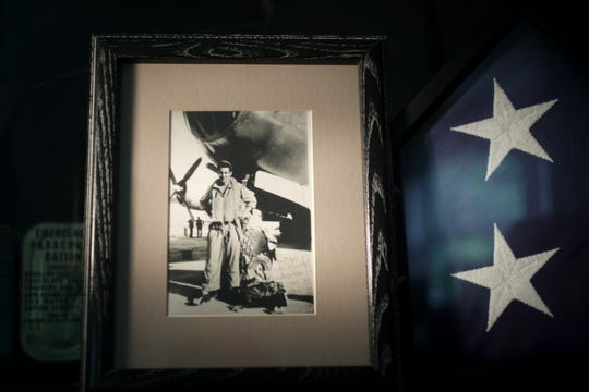 Mel Bierman is depicted in a photograph from WWII. Monday August 3, 2020