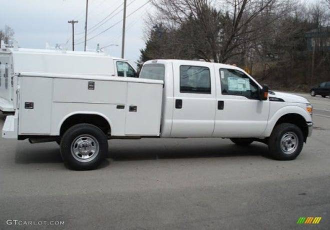 The sheriff's department says a white utility truck similar to this one was used in a drive-by shooting July 31 near Brazito.