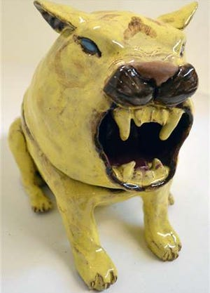 """Leah Cosgrove's sculpture """"Scared Tiger"""" won the gold key at the Scholastic Art & Writing Awards, an alliance for young artists and writers."""