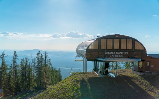The Grand Canyon Express chairlift at the Arizona Snowbowl Resort in Flagstaff.
