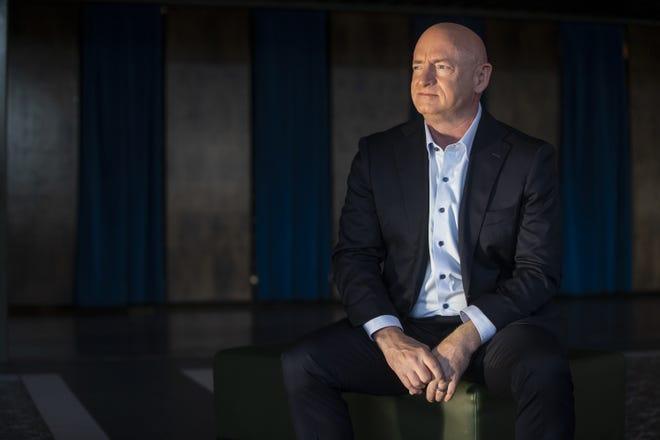 Democratic Senate nominee Mark Kelly sits for a portrait on Aug. 5, 2020, at The Van Buren in Phoenix.