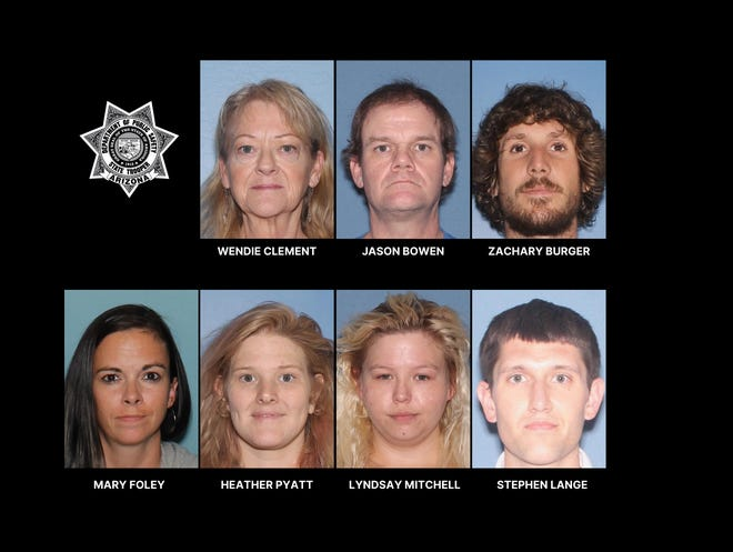 """The Arizona Department of Public Safety andMaricopa County Criminal Targeting Unit arrested seven people at a """"notorious"""" house in the Dobson Ranch neighborhood of Mesa on July 29, 2020."""