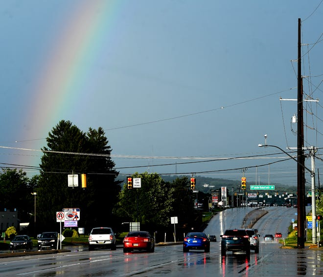 Tropical Storm Isaias leaves York with a rainbow as the last of the rain passes through, Tuesday, August 4, 2020. John A. Pavoncello photo