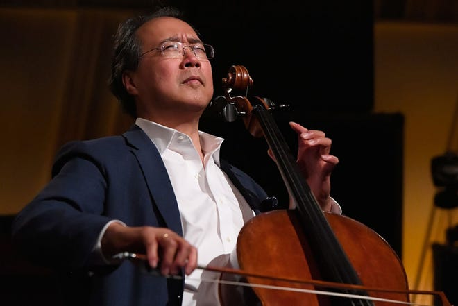 Yo-Yo Ma performs on SiriusXM's Symphony Hall hosted by David Srebnik at SiriusXM Washington D.C. Studios on June 25, 2018 in Washington, DC. (Photo by Larry French/Getty Images for SiriusXM/TNS)