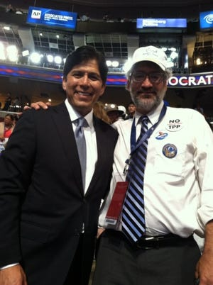 Alan Haffa, a Monterey County delegate, with another attendee at the 2016 Democratic National Convention.