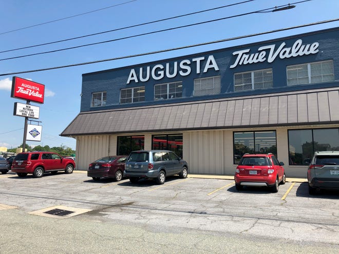 Reporter Laura Peters did a mask and social distance check at the Augusta True Value in Staunton on Aug. 5.