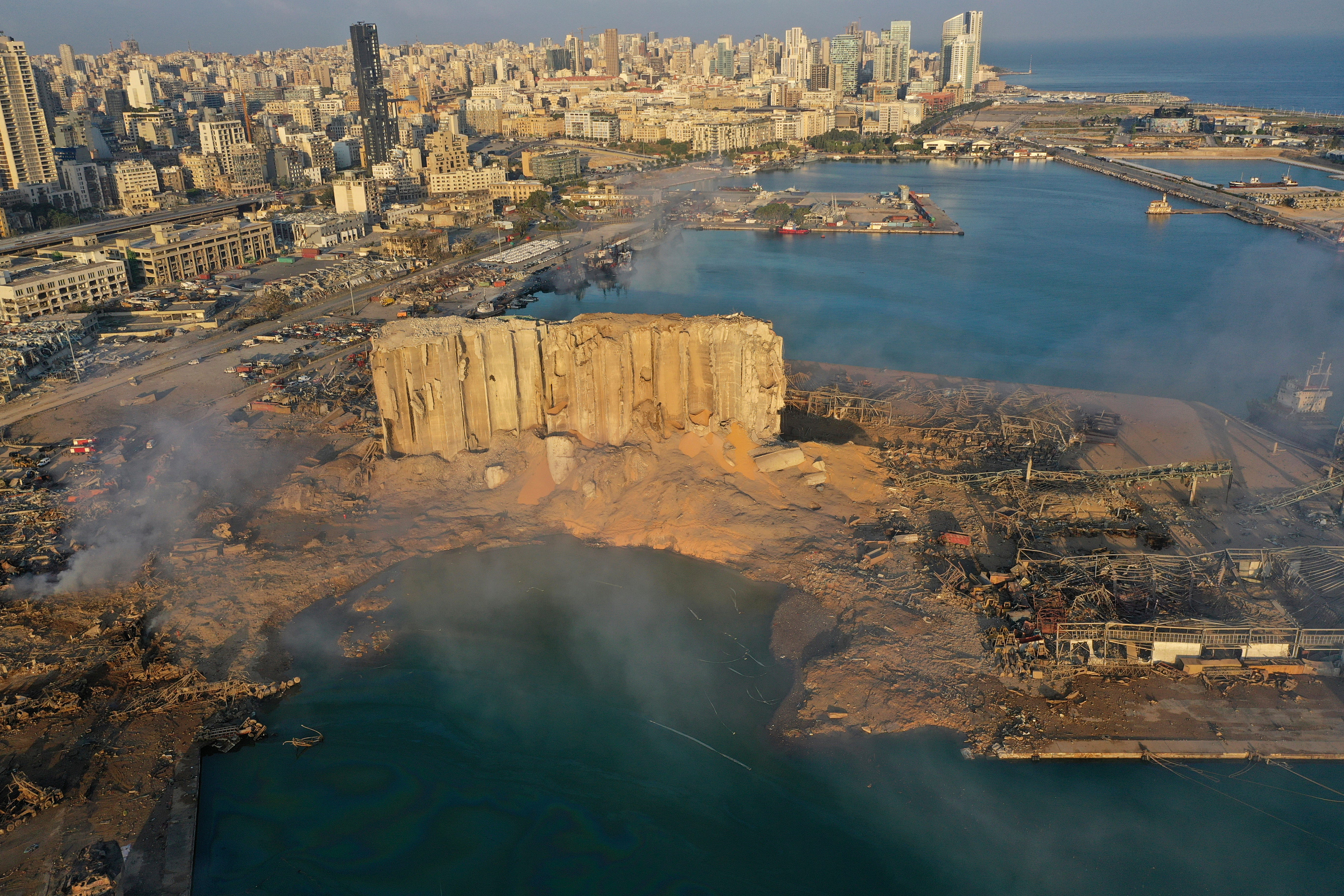 Lebanon president: Beirut explosion either due to negligence or missile, bomb