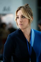 Kaley Cuoco plays Cassie Bowden, the title character of HBO Max's comedic thriller, 'The Flight Attendant.'