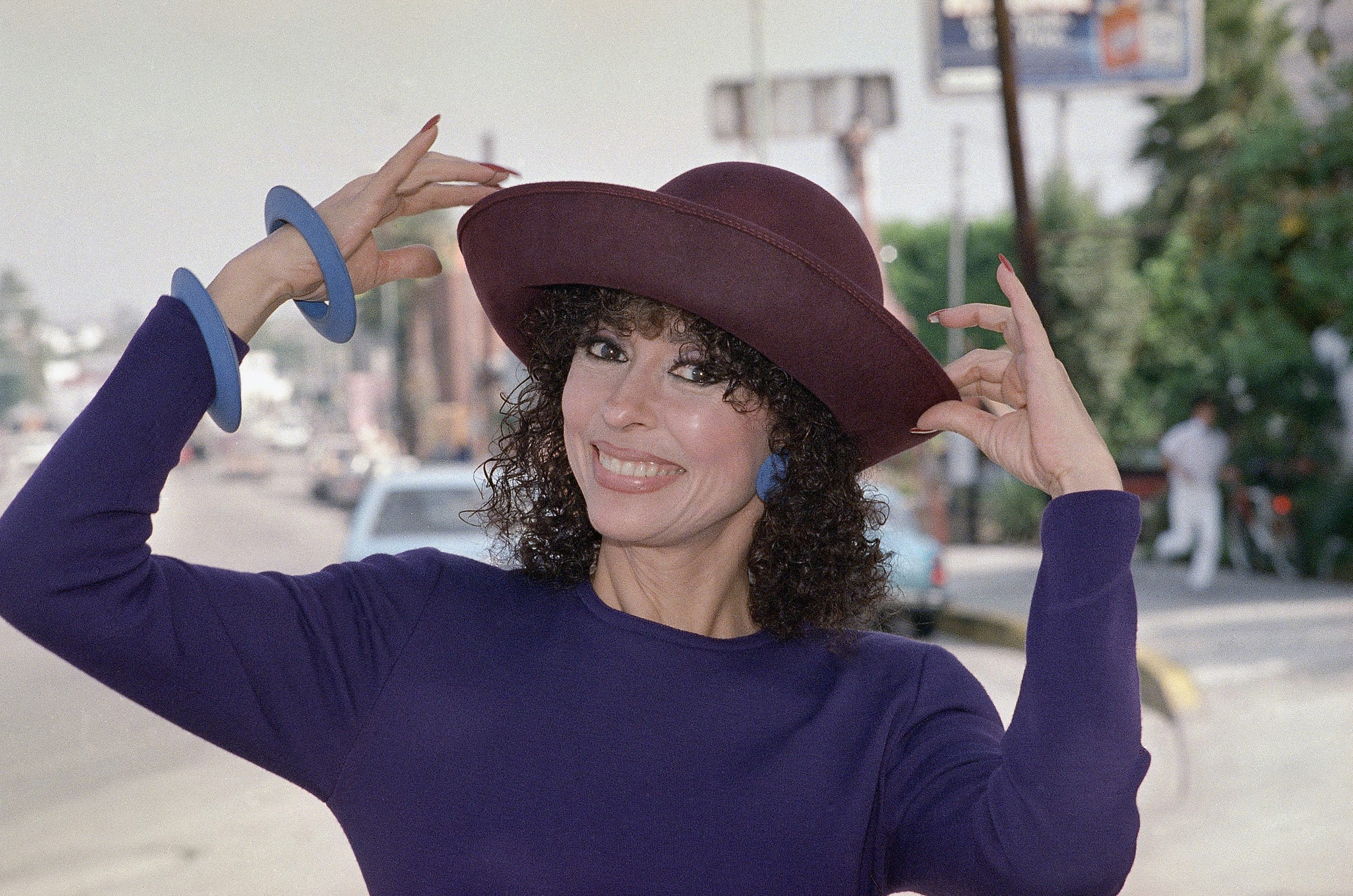 Rita Moreno poses on Melrose Avenue in West Hollywood, Calif., in 1988.