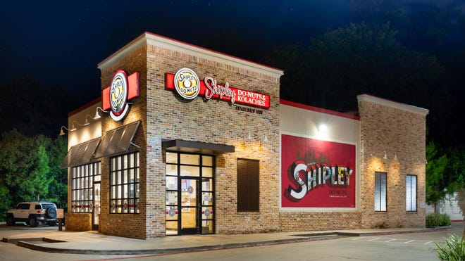 A Jacksonville family is opening the first Shipley Do-Nuts shop in Northeast Florida at 12667 Beach Blvd., at Tamaya Market shopping center. Pictured is a Houston, Texas store. [Provided by Shipley Do-Nuts]