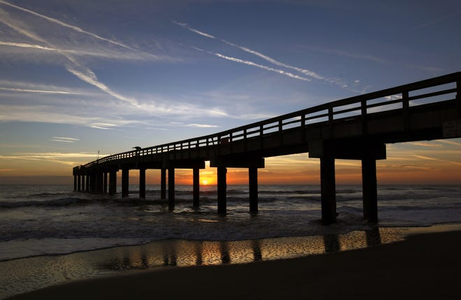 The St. Johns County Pier is the site of evening yoga classes, held every Tuesday and Thursday through Sept. 24.