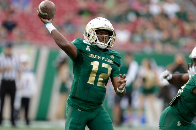 South Florida quarterback Jordan McCloud has started two games this season but hasn't separated himself as the clear No. 1.