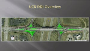 Provided illustration shows how traffic flows in the new diverging diamond interchange.
