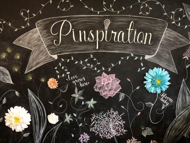 A chalkboard wall at the Pinspiration in Phoenix, Arizona.
