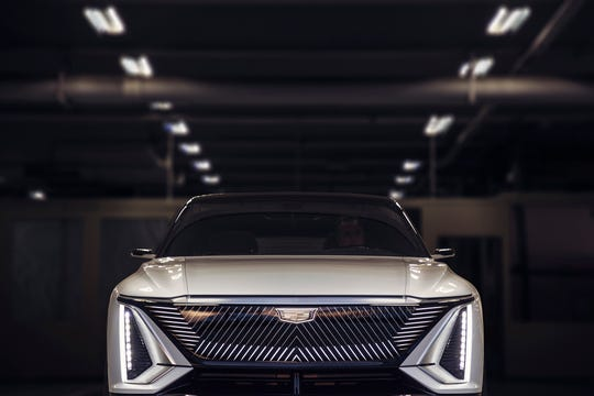 A new aggressive look for the new Cadillac Lyriq electric SUV. This is an extraordinarily early look at the styling and features of a vehicle that won't be sold until late 2022.