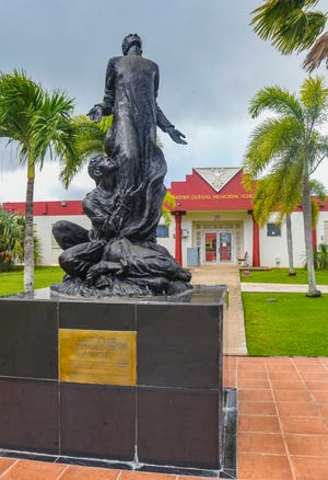Father Duenas Memorial School in Mangilao on Aug. 6, 2020.