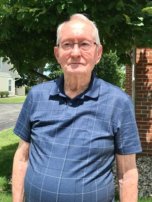 Marion's Bill Gossett, 90, hit his first hole in one recently at Green Acres. Gossett has been playing golf for 66 years.