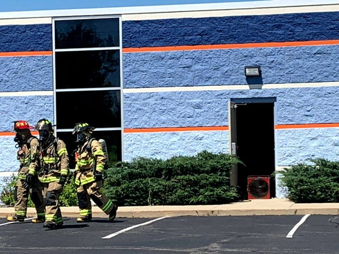 Mequon firefighters spent four hours clearing chlorine gas out of Splash! Swim and Wellness, 10636 N. Commerce St., on Aug. 6.