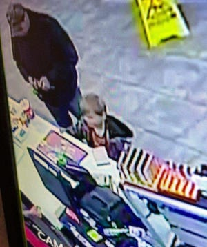 Photo of an unidentified child at Casey's market in Camden, Tenn. on April 4, 2018 that employees believe was Joe Clyde Daniels.