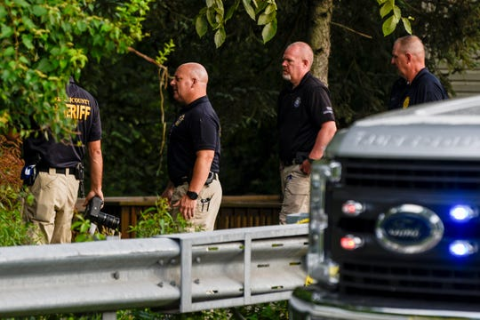 Bergen County Sheriff on the scene of an auto crash in River Vale on Thursday August 6, 2020.