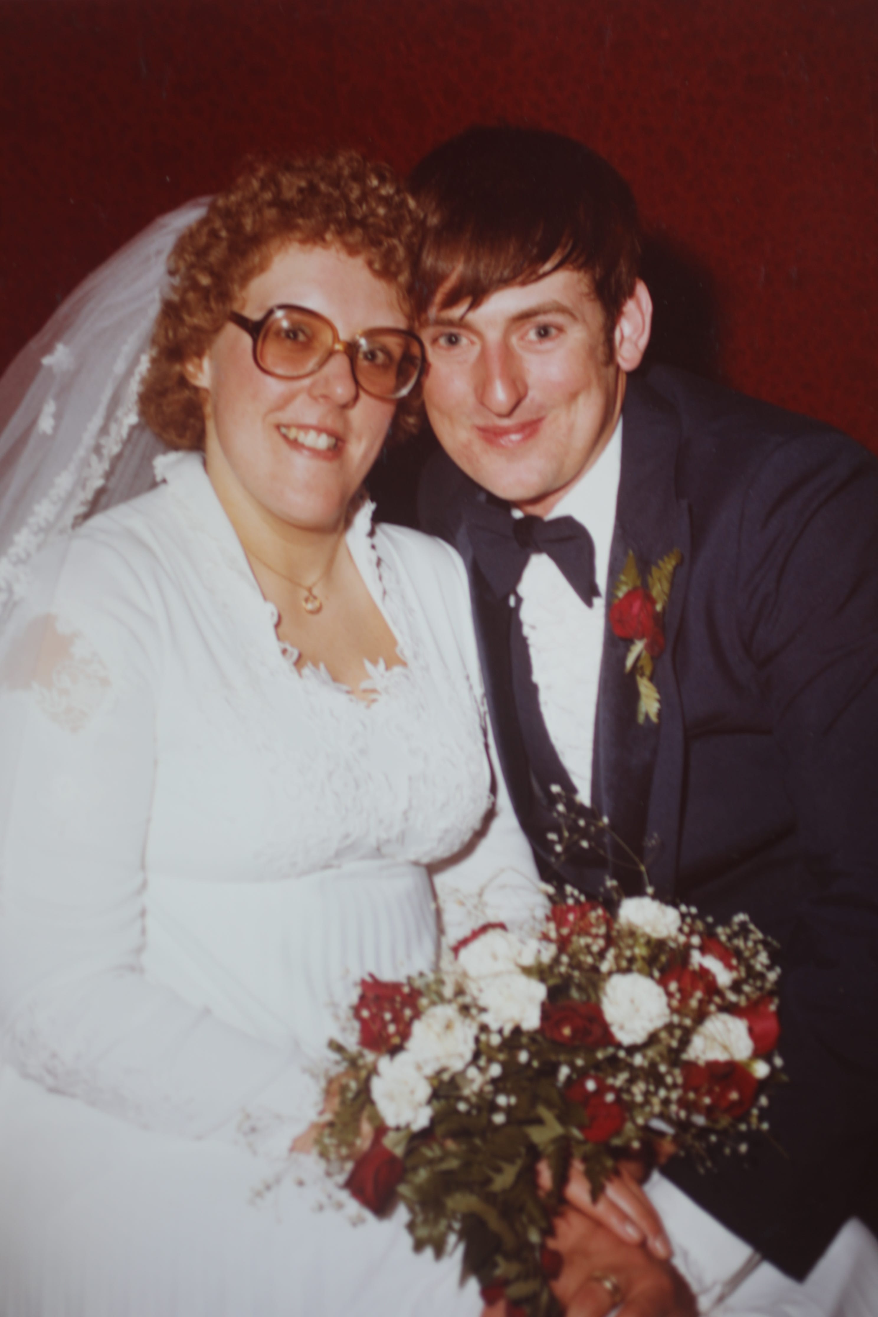 Barbara and Bill Birchenough's wedding photo is shown here.  The couple was married for approximately 41 years.