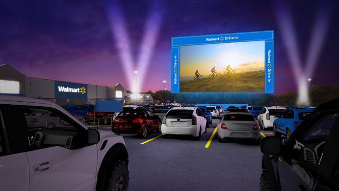 Walmart announced they will be transforming 160 parking lots into drive-in movie theaters starting in August.