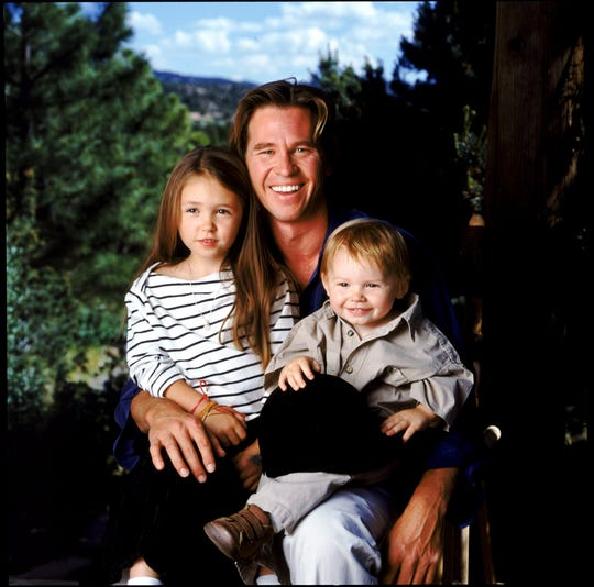 Val Kilmer and his children Mercedes and Jack.  Kilmer recalled that he tried to make the actor's son Jack star in a movie several years ago, but was refused.