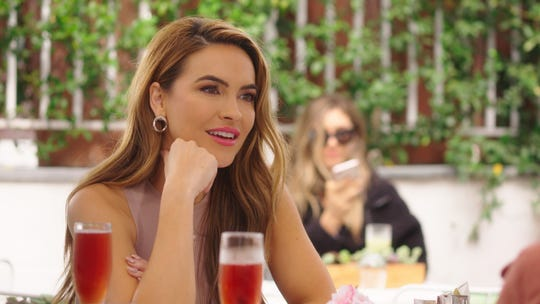 Chrishell Stause, seen in an episode of Netflix's 'Selling Sunset,' is one of the celebrity dancers who will be part of Season 29 of ABC's 'Dancing with the Stars.'