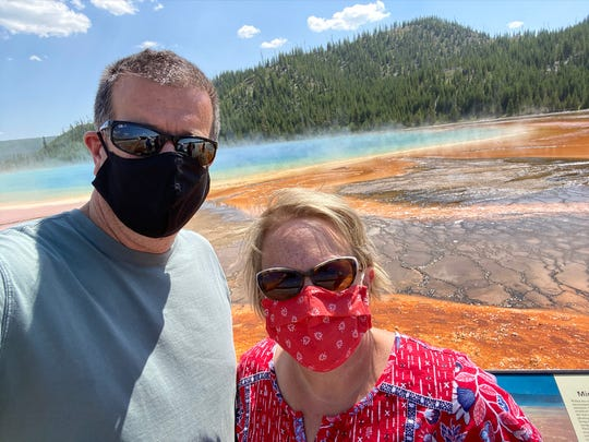 Amy Fesmire, of Firestone, Colorado, canceled her family's summer vacation plans to South Carolina. They went to Yellowstone instead.