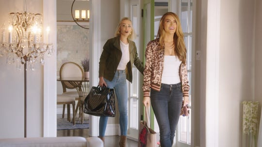 Chrishell Stause shows her Oppenheim Group colleague Mary Fitzgerald the home she moved in following the end of her marriage to actor Justin Hartley in a Season 3 episode of 'Selling Sunset.'
