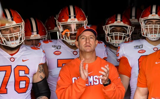 Clemson coach Dabo Swinney will start the season No. 1 but faces unique challenges this season, as do all FBS teams,.